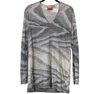 Missoni thin knit gray long sleeved top or…